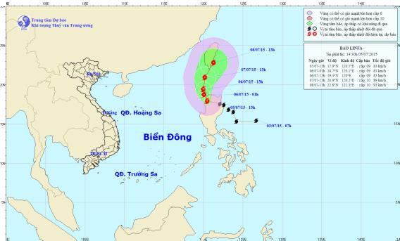 Bão Linfa giật cấp 10 hoành hành trên biển Đông 1