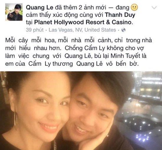 Quang Lê gây tranh cãi khi mượn Minh Tuyết
