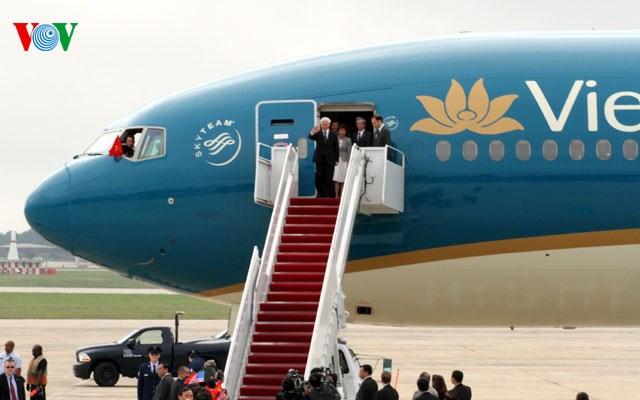 Hình ảnh đầu tiên của Tổng Bí thư Nguyễn Phú Trọng tại Mỹ 4