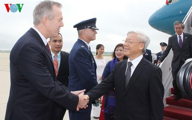 Hình ảnh đầu tiên của Tổng Bí thư Nguyễn Phú Trọng tại Mỹ 6