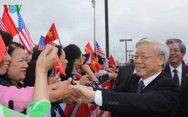 Hình ảnh đầu tiên của Tổng Bí thư Nguyễn Phú Trọng tại Mỹ 7