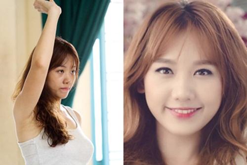 Khuôn mặt trước và sau trang điểm của dàn mỹ nhân Việt 8