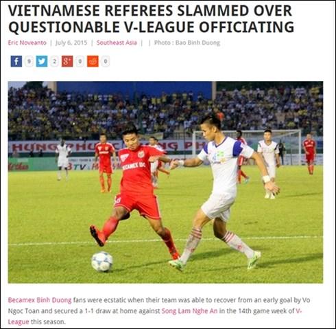 Trọng tài V-League bị báo nước ngoài chê tả tơi 1