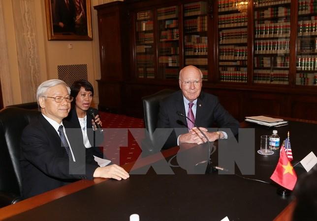 Tổng Bí thư Nguyễn Phú Trọng gặp nghị sỹ Thượng viện, Hạ viện Hoa Kỳ  1