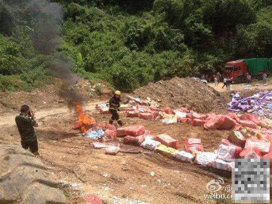 Cận cảnh 670 tấn thịt đông lạnh 40 năm vào Trung Quốc bị tiêu hủy 2