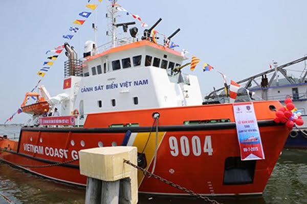 Cảnh sát biển tiếp nhận tàu hiện đại lần đầu tiên đóng tại Việt Nam 1