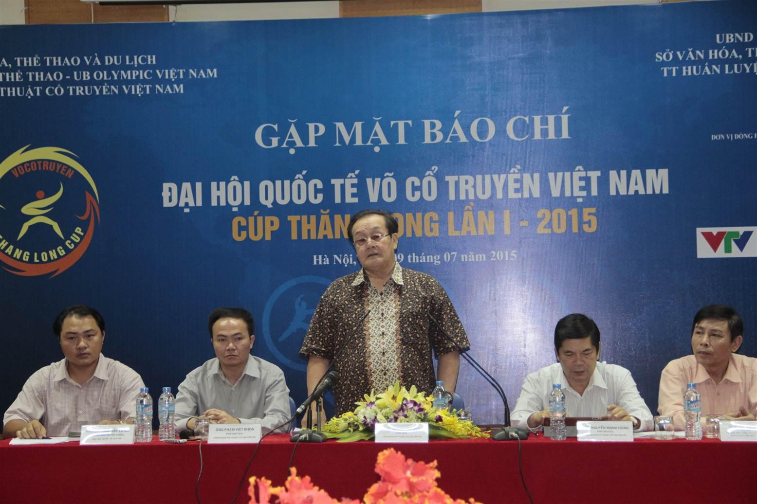 Đại hội quốc tế võ cổ truyền Việt Nam lần 1 sẽ có 35 nước tham dự 1