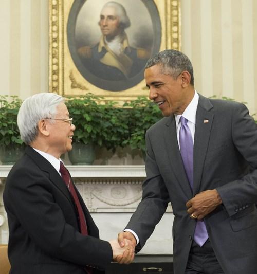 Những hình ảnh ấn tượng trong chuyến thăm Hoa Kỳ của Tổng Bí thư 4