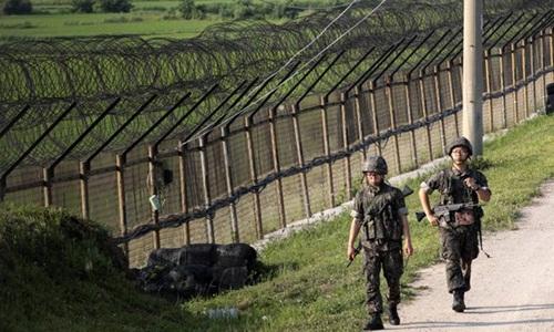 Lính Triều Tiên định vượt biên bị nổ súng cảnh cáo 1