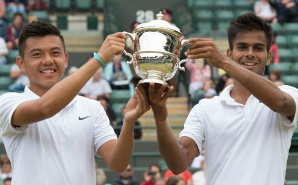 Hình ảnh Lý Hoàng Nam giành chức vô địch lịch sử tại Wimbledon trẻ 2015 số 1