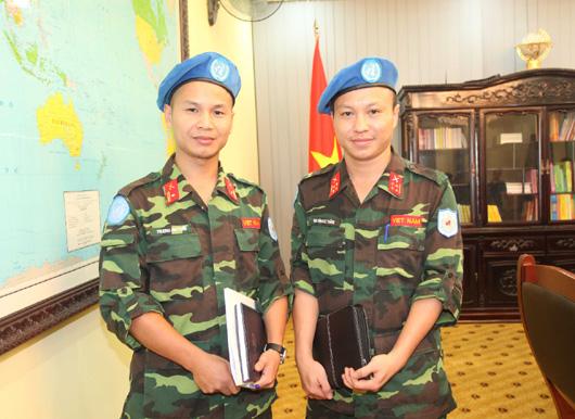 Thêm 2 sĩ quan Việt Nam tham gia lực lượng gìn giữ hòa bình LHQ 1