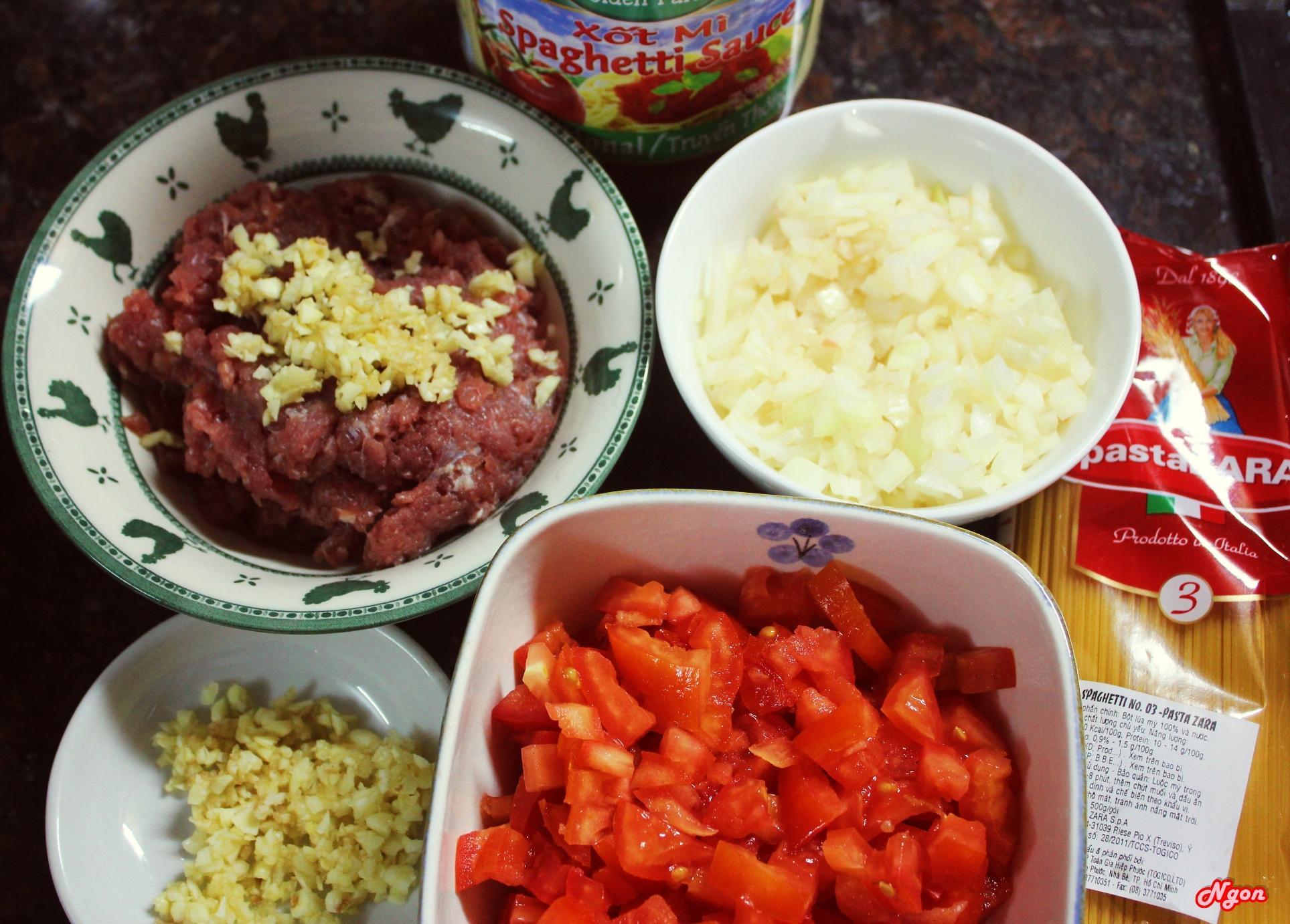 Cách làm mỳ ý sốt bò băm thơm ngon đơn giản 3