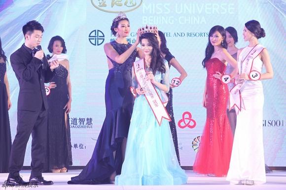 Nhan sắc gây thất vọng của tân Hoa hậu Hoàn vũ Trung Quốc 2015 3