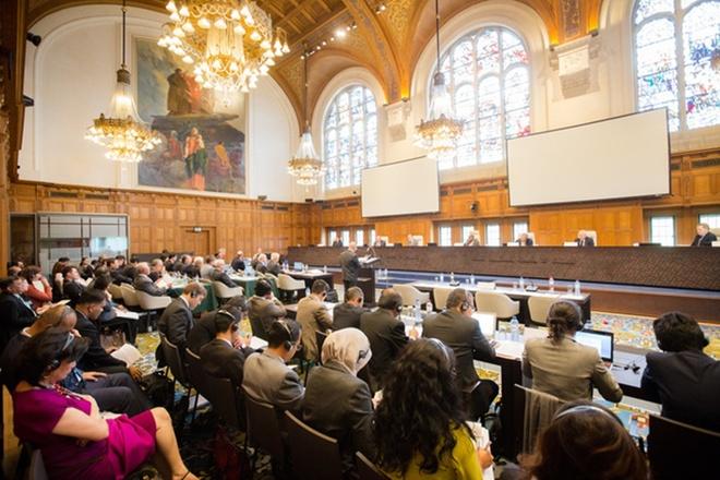 Hình ảnh Bên trong phiên tòa xét xử vụ kiện đường lưỡi bò của Philippines số 2