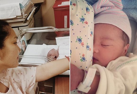 Kim Hiền hạnh phúc khoe con gái mới sinh 1