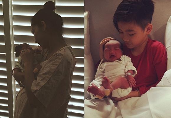 Kim Hiền hạnh phúc khoe con gái mới sinh 2