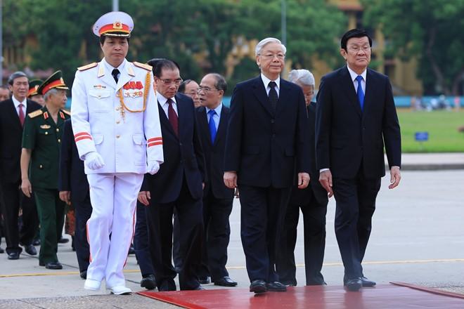 Chùm ảnh lãnh đạo Đảng và Nhà nước viếng lăng Chủ tịch Hồ Chí Minh 1