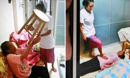 Singapore: Con gái thường xuyên hành hạ mẹ già gây rúng động 3
