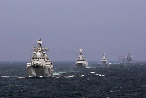 Trung Quốc đưa hơn 100 tàu chiến, hàng chục máy bay ra Biển Đông tập trận