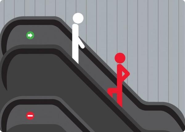 Video: Cách đi thang cuốn an toàn gây sốt cộng đồng mạng TQ 1