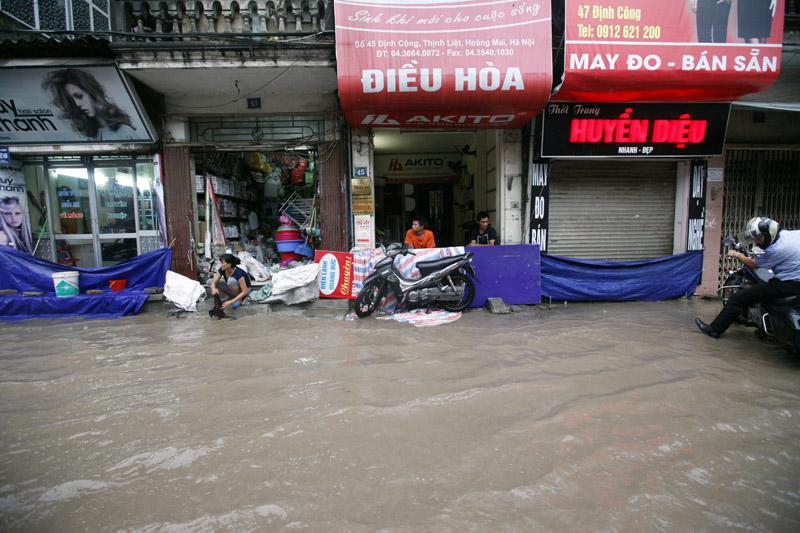 Hà Nội - Nam Định - Thái Bình ngập nước vì mưa lớn 6