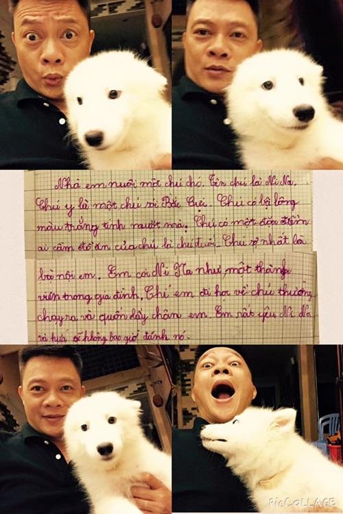 MC Quang Minh khoe bài văn tả chó dí dỏm của con trai 1