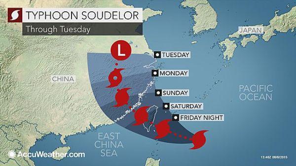 Đài Loan căng mình đối phó siêu bão mạnh nhất năm Soudelor 1