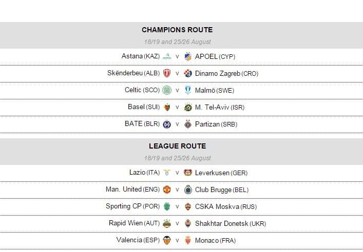 M.U gặp Club Brugge ở vòng play-off Champions League 2015/16 1
