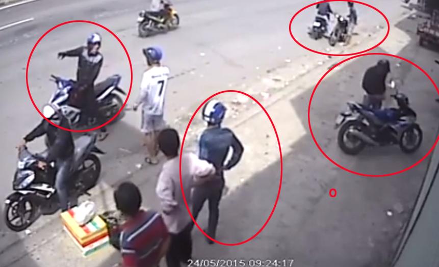 Video: Nhóm thanh niên dàn cảnh hỏi đường để trộm xe 1