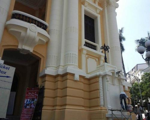 Bị dư luận phản đối, Nhà hát lớn Hà Nội trở về màu sơn cũ 7