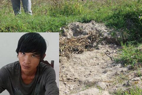 Thực nghiệm hiện trường vụ sát hại thiếu nữ giữa cánh đồng rồi phi tang xác 2