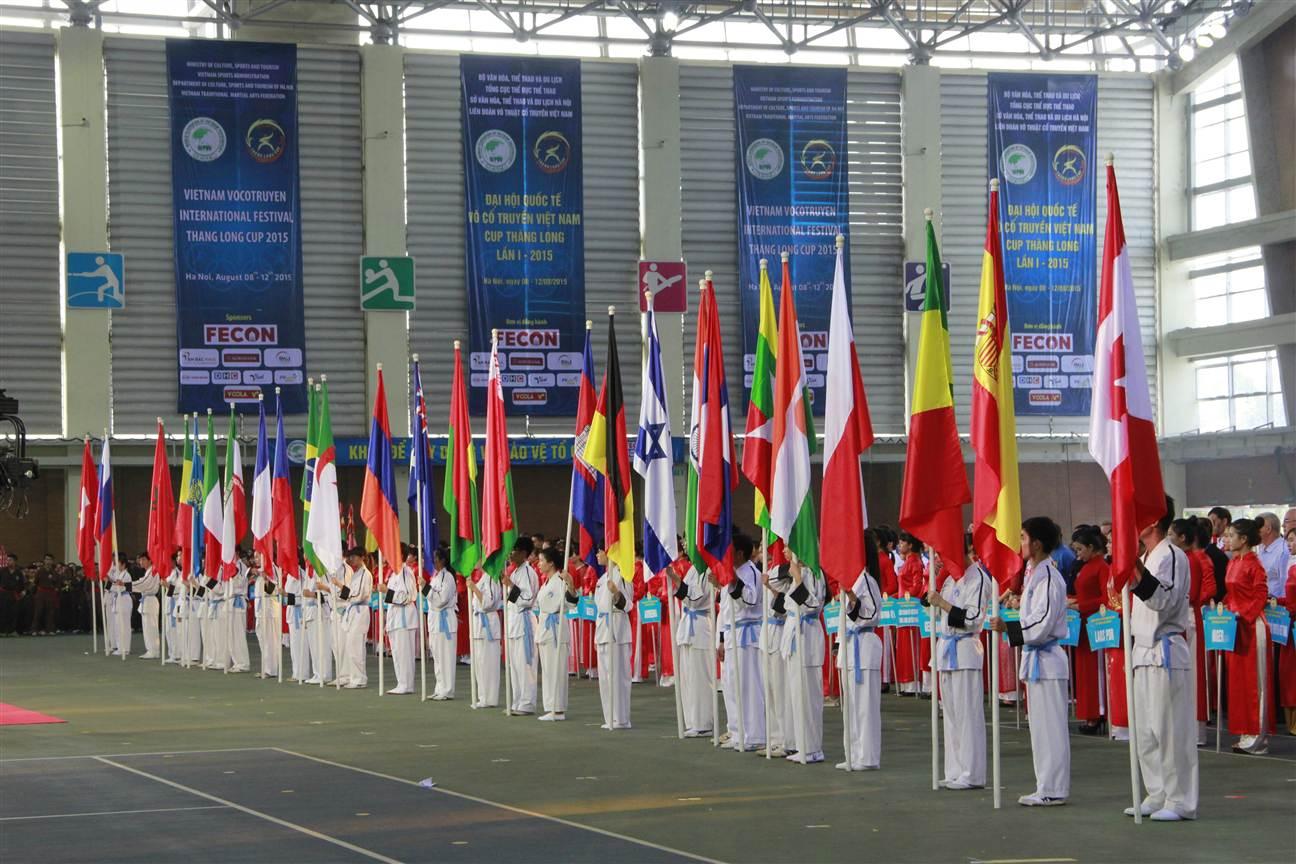 Khai mạc Đại hội Quốc tế Võ cổ truyền Việt Nam Cúp Thăng Long lần I 2