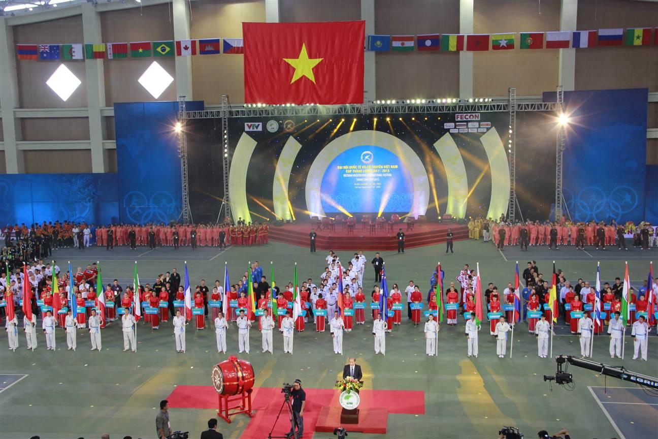 Khai mạc Đại hội Quốc tế Võ cổ truyền Việt Nam Cúp Thăng Long lần I 3