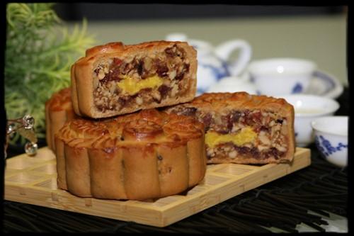 Hình ảnh Cách làm bánh nướng thập cẩm và trà xanh chào đón Trung thu số 11