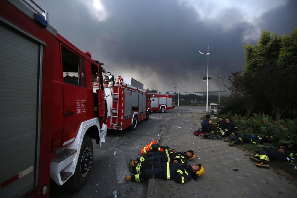 Những hình ảnh gây xúc động mạnh trong vụ nổ kinh hoàng ở TQ 5