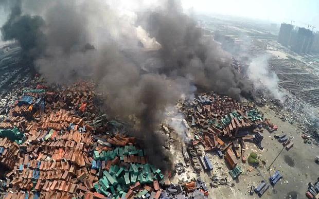 Vụ nổ Thiên Tân Trung Quốc: 'Hàng trăm tấn cyanide' trữ ở hiện trường 1