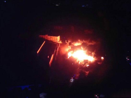 Nhà máy Trung Quốc lại bốc cháy sau vụ nổ ở Thiên Tân 4