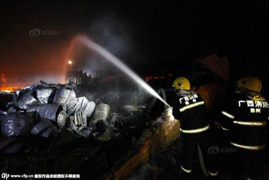 Nhà máy Trung Quốc lại bốc cháy sau vụ nổ ở Thiên Tân 6