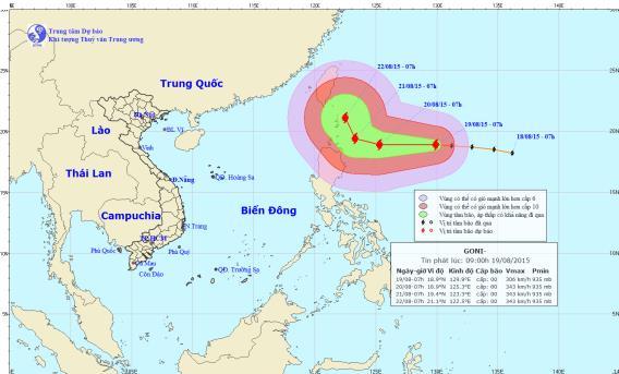 Xuất hiện siêu bão GONI giật cấp 17 ngoài biển Đông 1