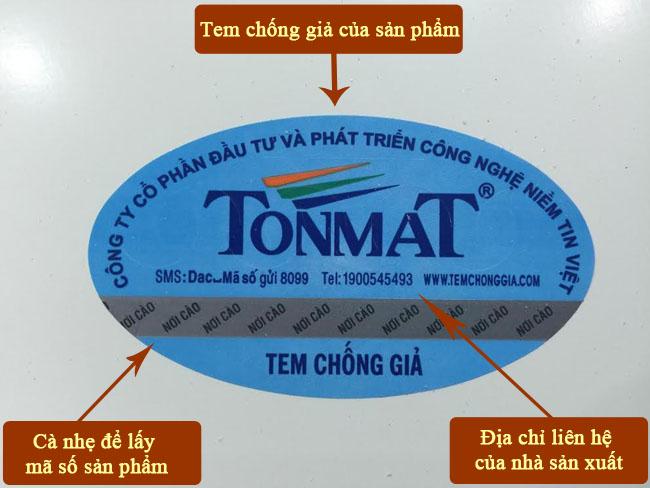 Phương pháp nhận biết hàng TONMAT chính hãng 3