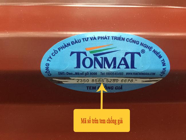 Phương pháp nhận biết hàng TONMAT chính hãng 4