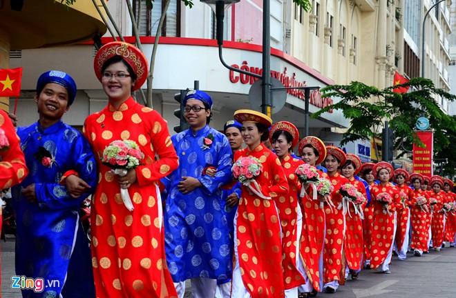 Lễ cưới tập thể 100 cặp đôi trong lễ Quốc khánh ở TP.HCM 3