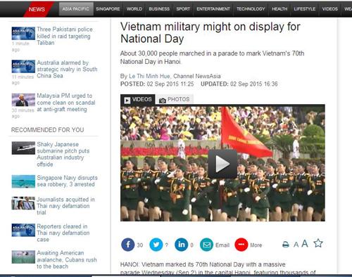 Báo quốc tế viết về lễ diễu binh mừng Quốc khánh của Việt Nam 3