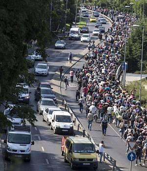 Dân Áo mang nước, thức ăn chào đón người nhập cư 7