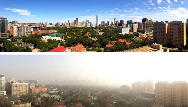 Bầu trời Bắc Kinh trong xanh bất ngờ sau 2 tuần cấm xe 1