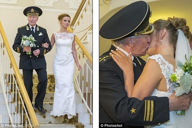 Đám cưới bí mật của tài tử Nga 84 tuổi và cô học trò 24 tuổi 2