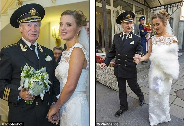Đám cưới bí mật của tài tử Nga 84 tuổi và cô học trò 24 tuổi 4