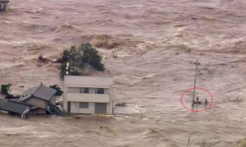 Video: Người dân Nhật đứng trên nóc nhà, chờ trực thăng cứu khỏi lũ dữ 1