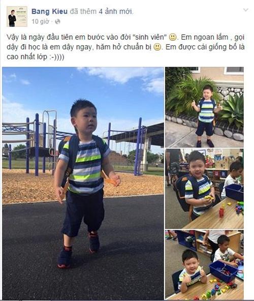 Facebook sao Việt: Phan Hiển khoe ảnh hồi nhỏ giống con trai 2