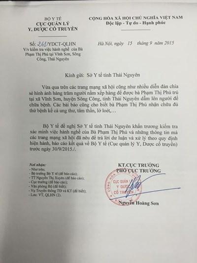 Bộ Y tế vào cuộc vụ 'Cô Phú Bồ Tát' chữa bách bệnh bằng cách giẫm đạp 1